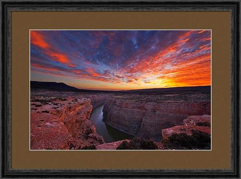 custom framed image of Bighorn Canyon